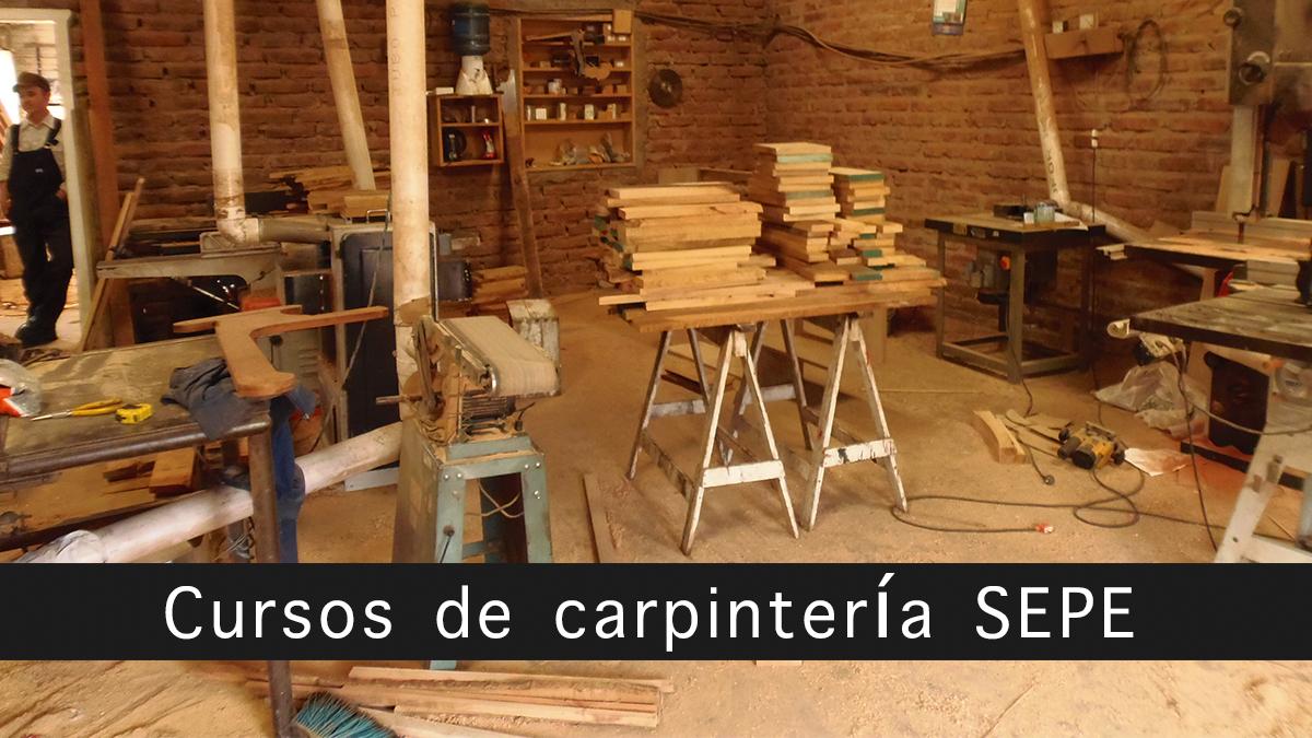 cursos de carpintería SEPE