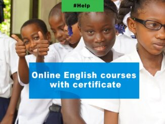 Online English courses with certificate------6-